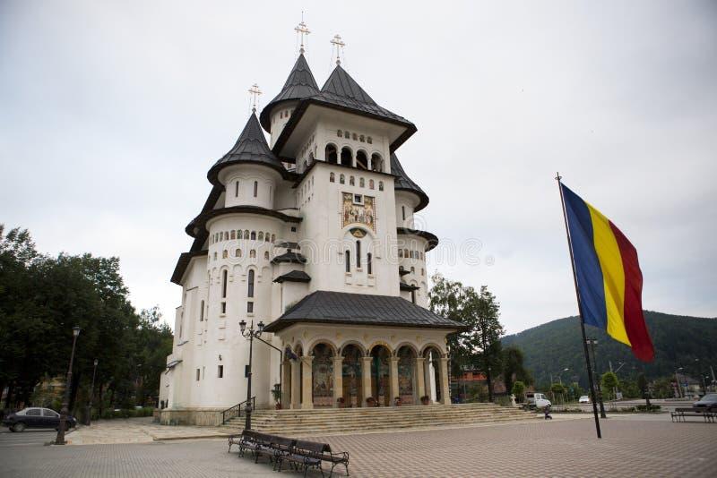 Catedrala Nasterea Maicii Domnului da Gura Humorului Romania fotografia stock