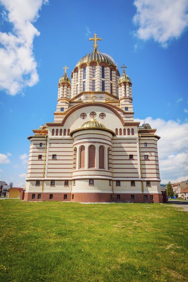Catedrala Sfantul Ioan Botezatorul in Fagaras stock foto's