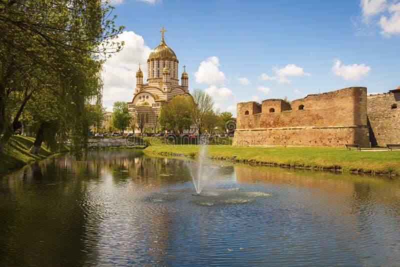 Catedrala Sfantul Ioan Botezatorul in Fagaras royalty-vrije stock afbeelding