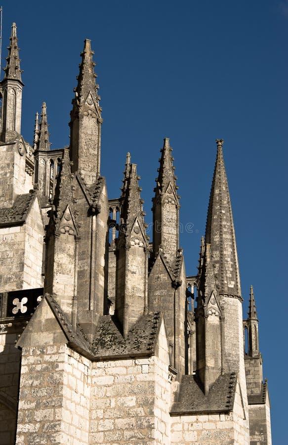 Catedrar i Bourges, Frankrike arkivbild