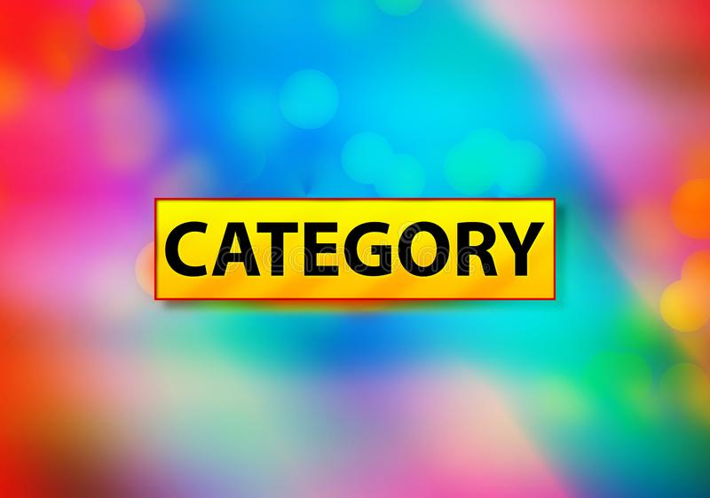 Category Abstract Colorful Background Bokeh Design Illustration. Category Isolated on Yellow Banner Abstract Colorful Background Bokeh Design Illustration royalty free illustration