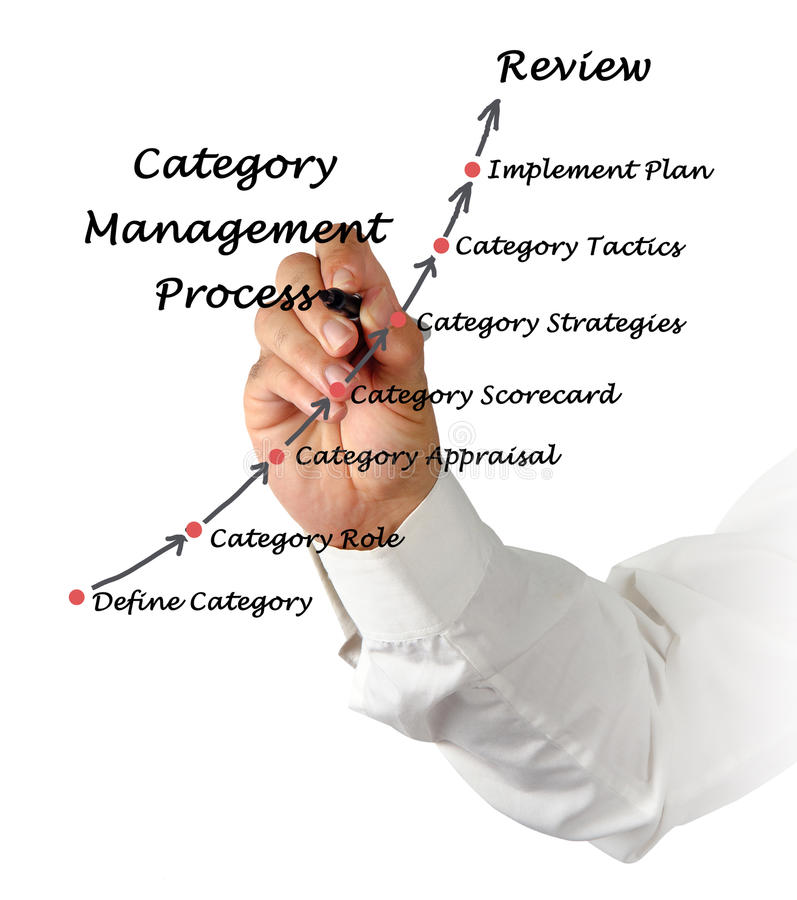 Category Management. Presenting diagram of Category Management stock photo