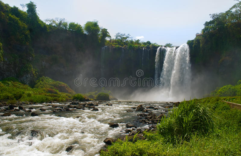 Catemaco waterfall, Veracruz, Mexico. Waterfall in Catemaco, Veracruz, Mexico stock images