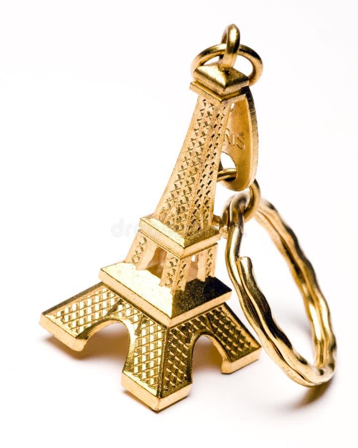 Catena chiave del ricordo della Torre Eiffel fotografia stock libera da diritti