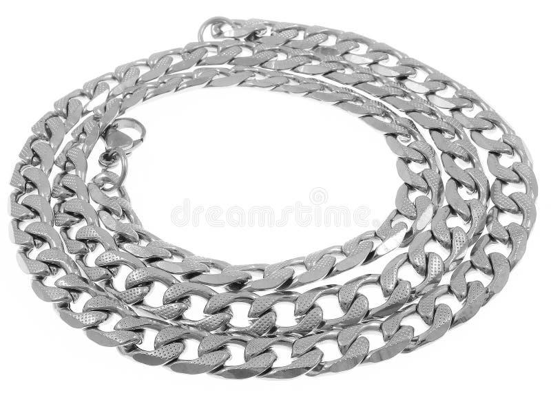 catena dei gioielli Decorazione del collo Acciaio inossidabile fotografia stock libera da diritti