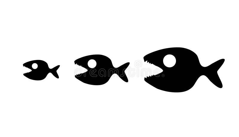 Catena dei pesci royalty illustrazione gratis