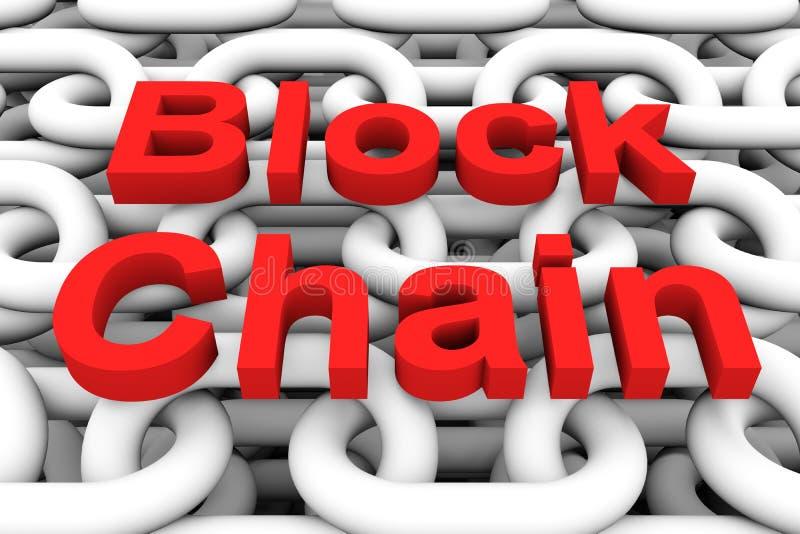 Catena di blocco illustrazione di stock