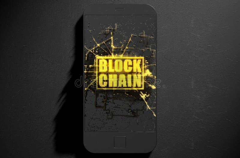 Catena di blocco Cloner Smartphone illustrazione vettoriale