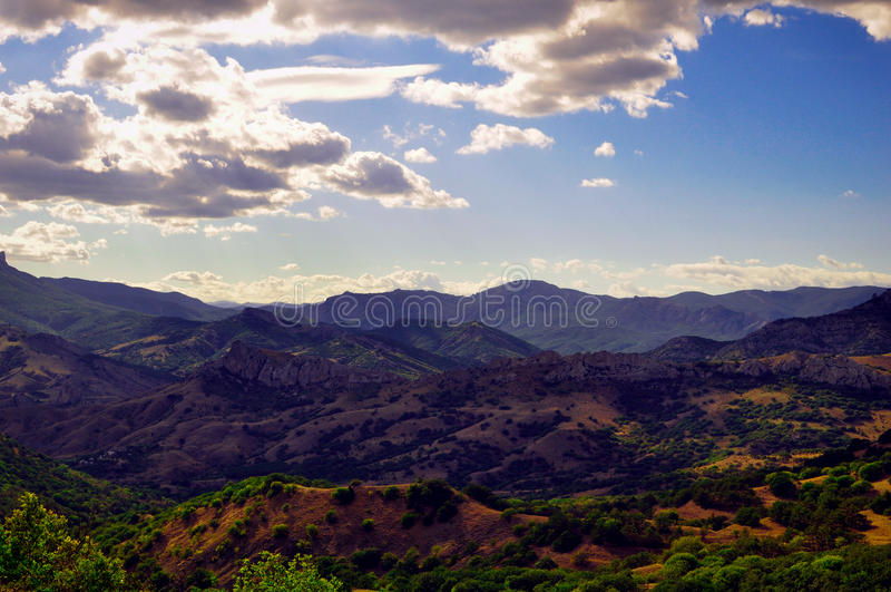 Catena di montagne - Crimea immagini stock