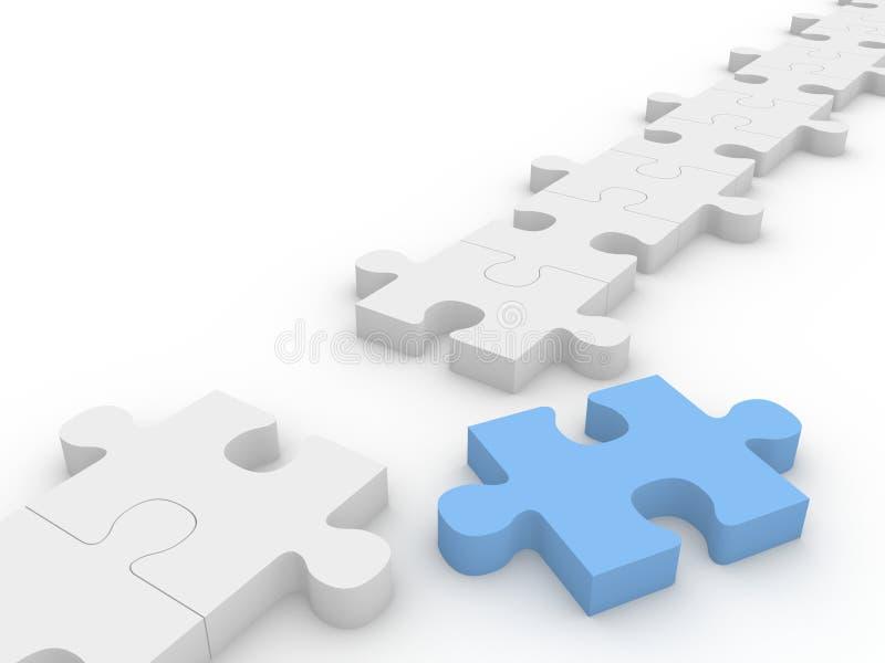 Catena di puzzle del puzzle illustrazione vettoriale