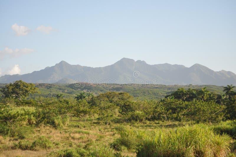 Catena montuosa intorno a Trinidad de Cuba immagine stock libera da diritti