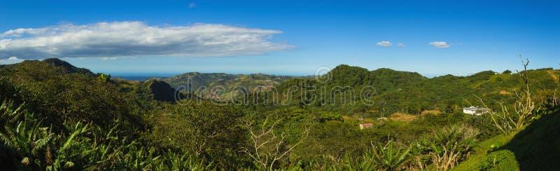 Catena montuosa principale centrale di Cordigliera nel Porto Rico fotografia stock libera da diritti