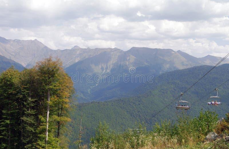 Catena montuosa Psekhako fotografie stock libere da diritti