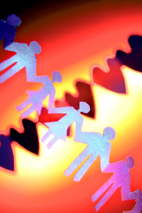 Catena multicolore della gente fotografia stock libera da diritti