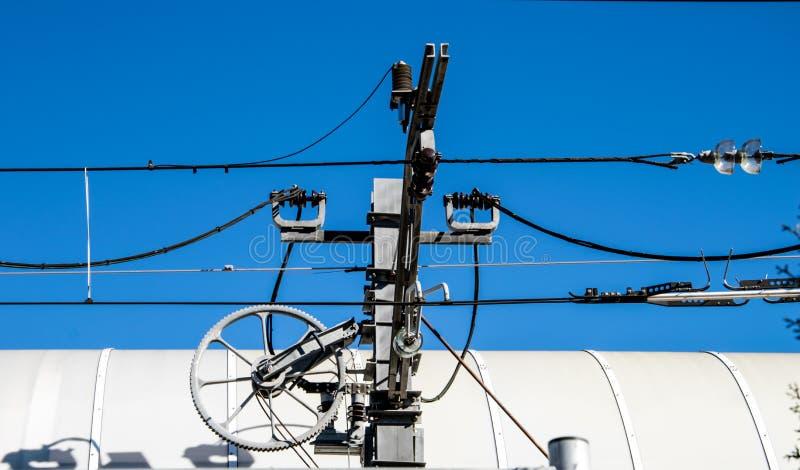 Catenary elektrifiering för hög makt royaltyfri bild