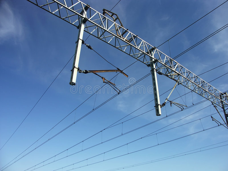 Catenary system royalty free stock photography