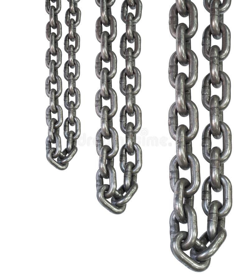 catene dell'acciaio legato del metallo per uso industriale, molto forti fotografia stock libera da diritti