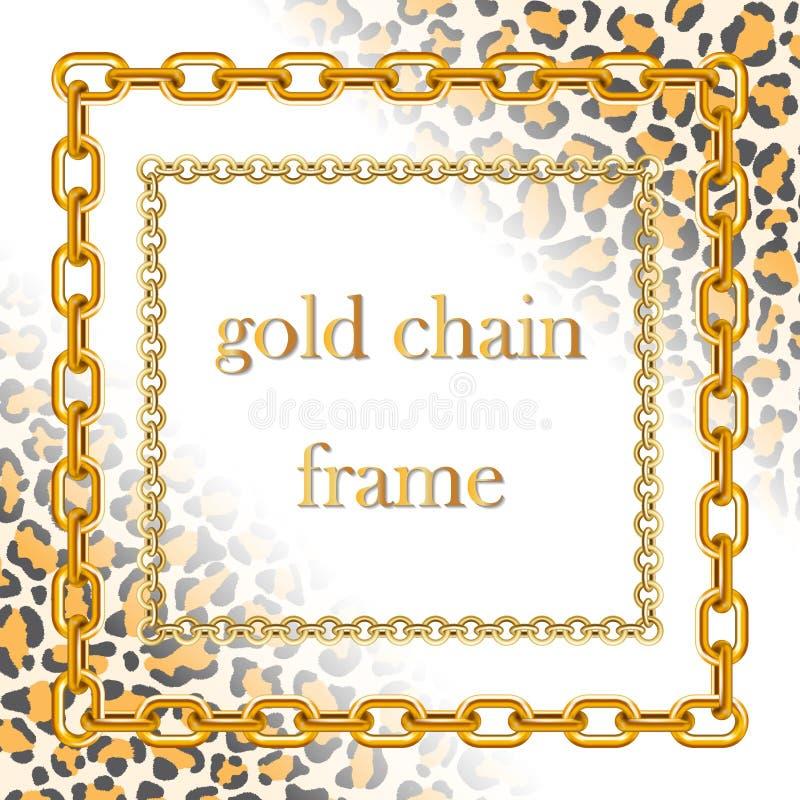 Catene dell'oro delle dimensioni differenti illustrazione di stock