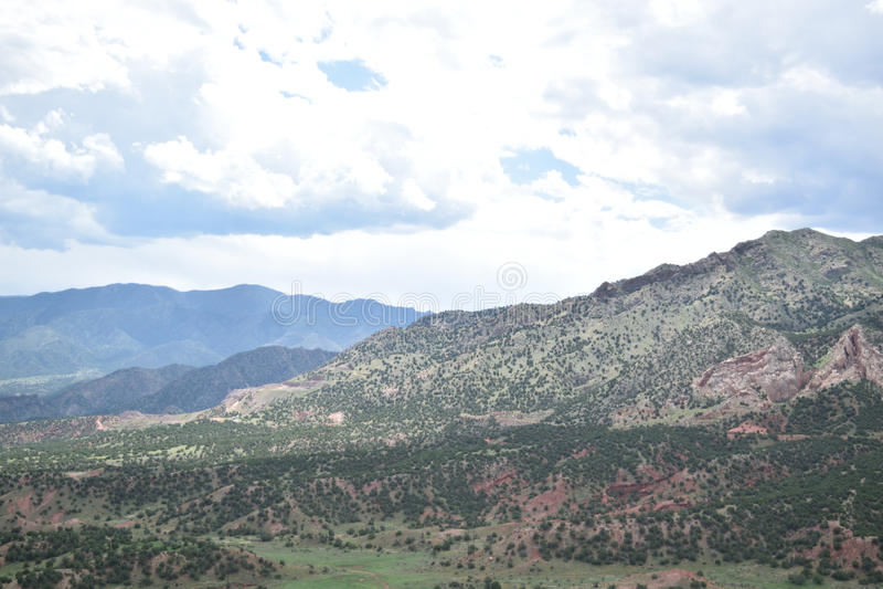 Catene montuose illuminate fotografia stock