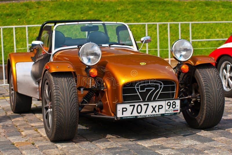 Caterham en bronze sept véhicules de sport images libres de droits