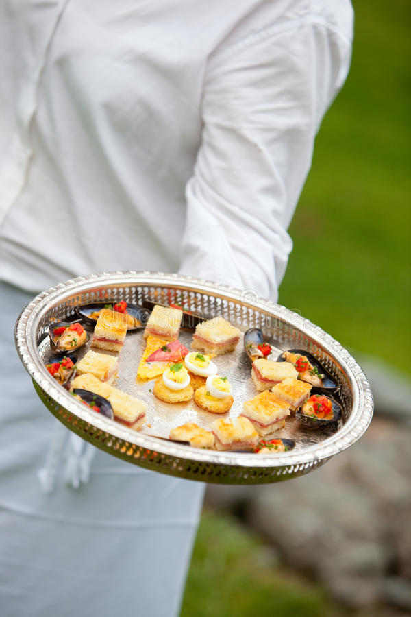 Catering appetizer stock image