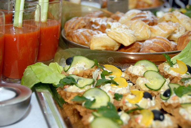 Catering buffet style royalty free stock photo
