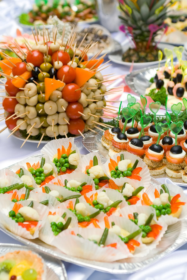 Free Catering Buffet Style - Tomatoes, Mushroomes And O Stock Photos - 5645783