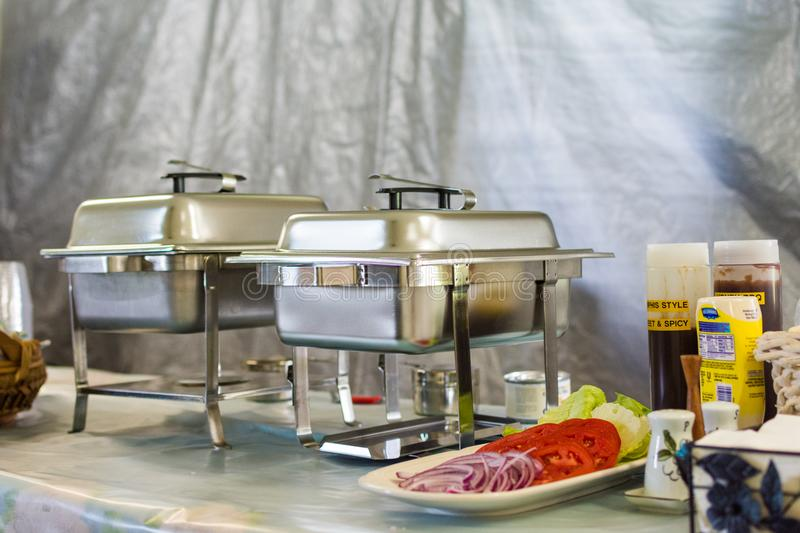 Catering Buffet of a Variety of Different Foods royalty free stock photography