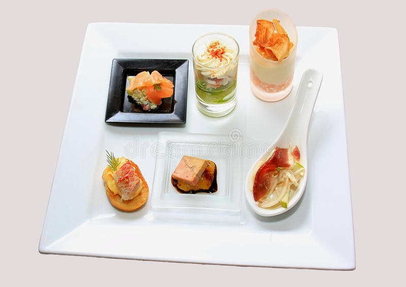 Catering canape stock image