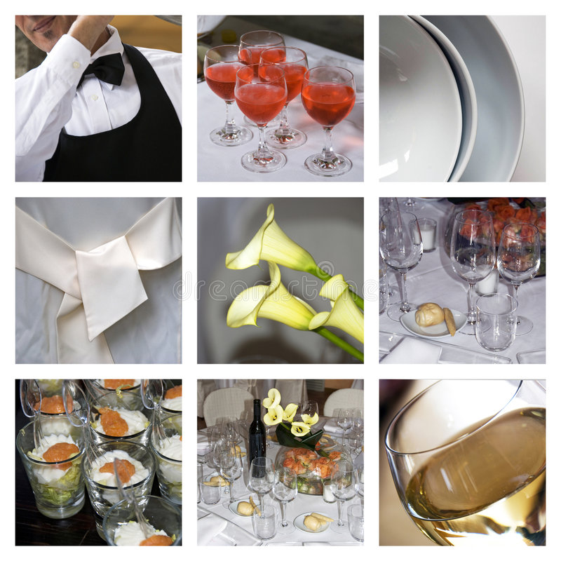 Download Catering collage stock photo. Image of food, cocktail - 8003962