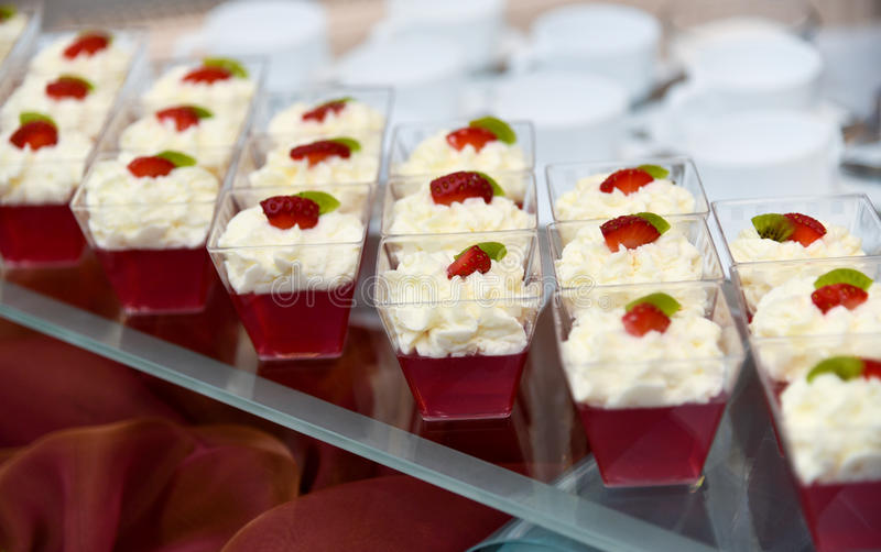 Catering, deser obrazy royalty free