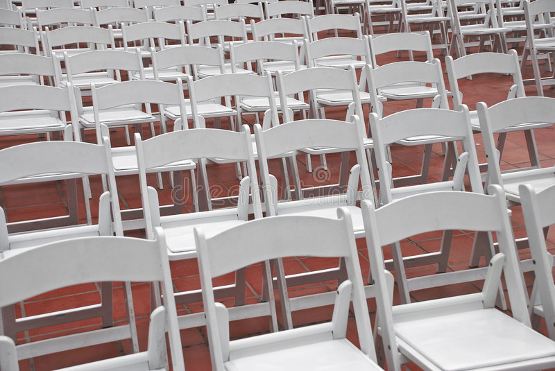 Catering or Event Folding Chairs in Rows royalty free stock photos