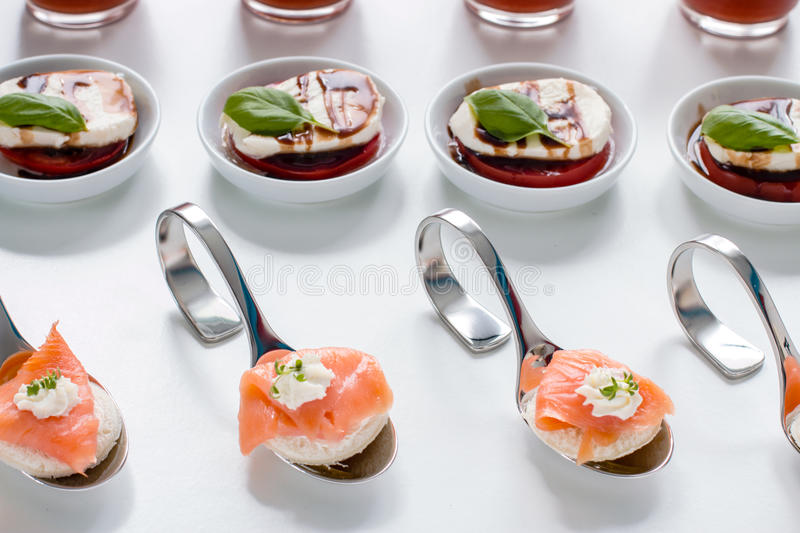 Catering finger food royalty free stock photo
