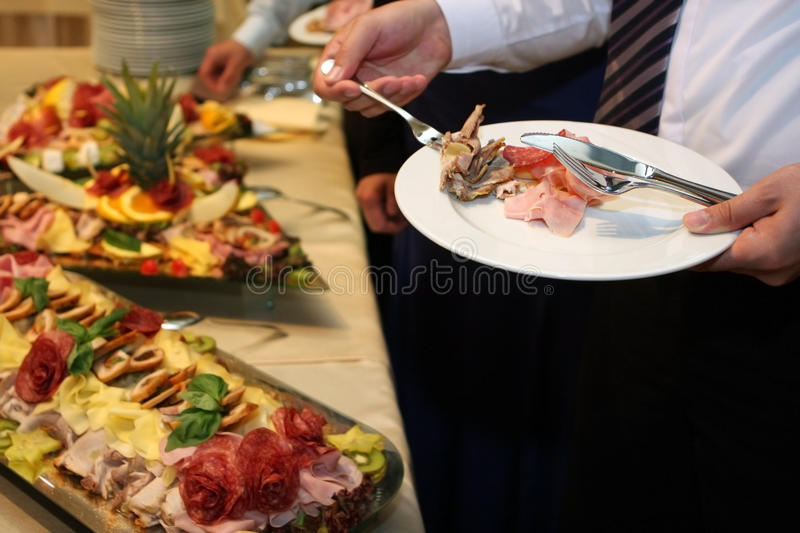 Catering food stock image