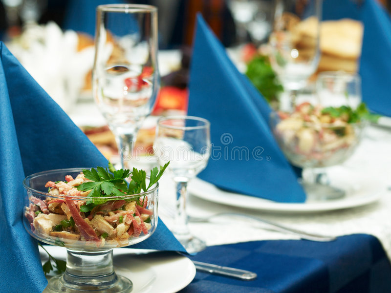 Catering food. At a wedding party Beautifully decorated meal stock photography