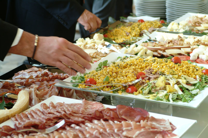 Catering food - buffet stock photography