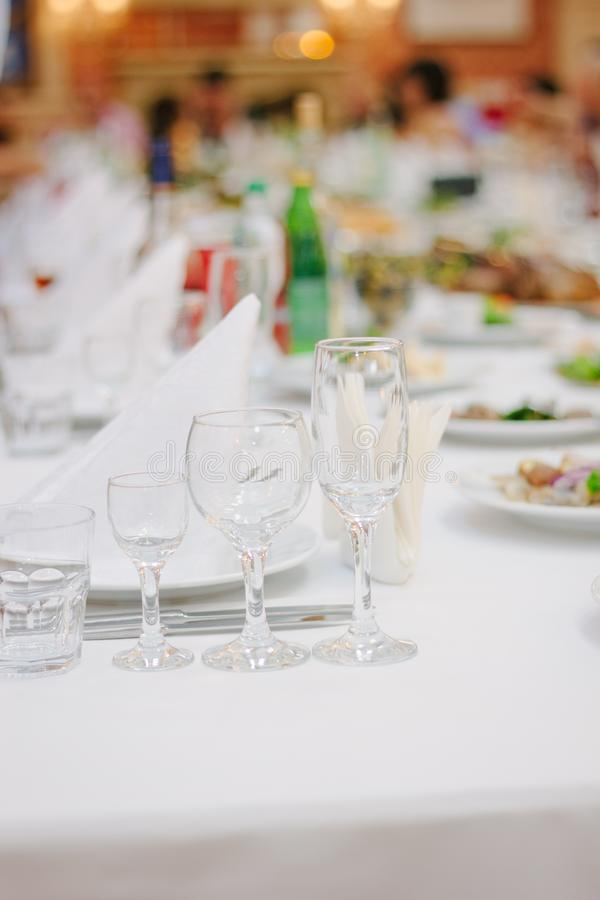 Catering food at table at catering buffet.  royalty free stock image