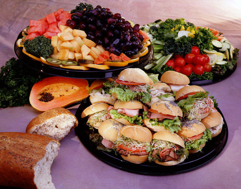 Catering foods. Foods for catering and parties