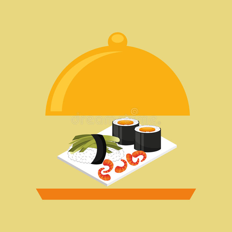 Catering fresh sushi design graphic. Vector illustration eps 10 vector illustration