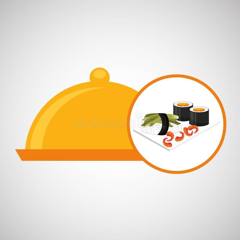 Catering fresh sushi design graphic. Vector illustration eps 10 stock illustration