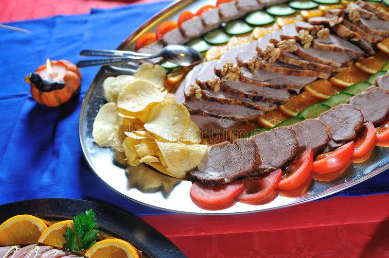 Catering fresh and teasty food royalty free stock photography