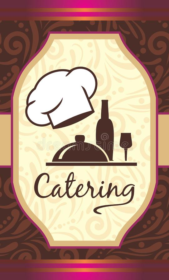 Catering. Label for menu design stock images