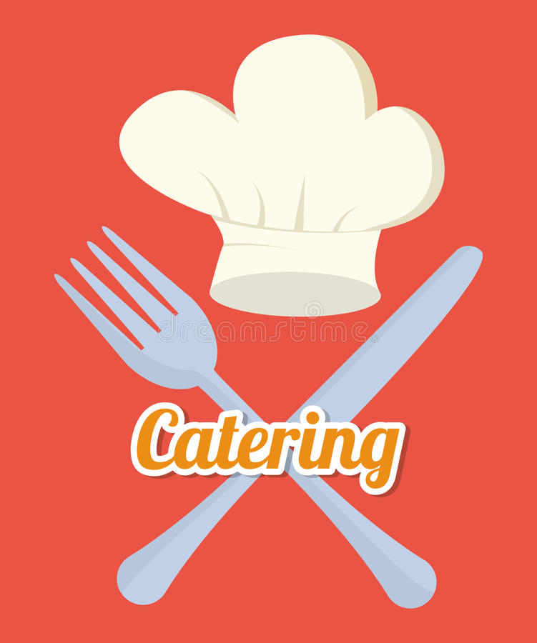 Catering related icons emblem. Illustration design royalty free illustration