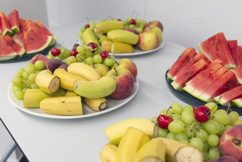 Catering service business fruit serving plate royalty free stock photos