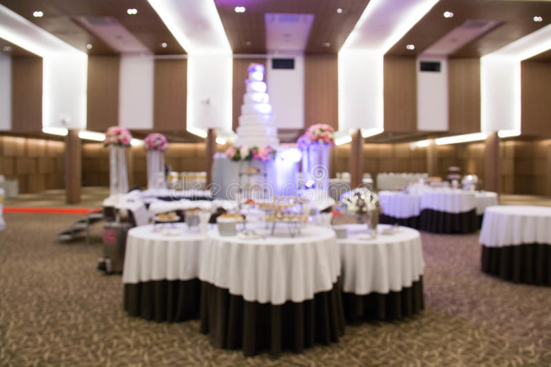 Catering setup, at wedding reception stock photo
