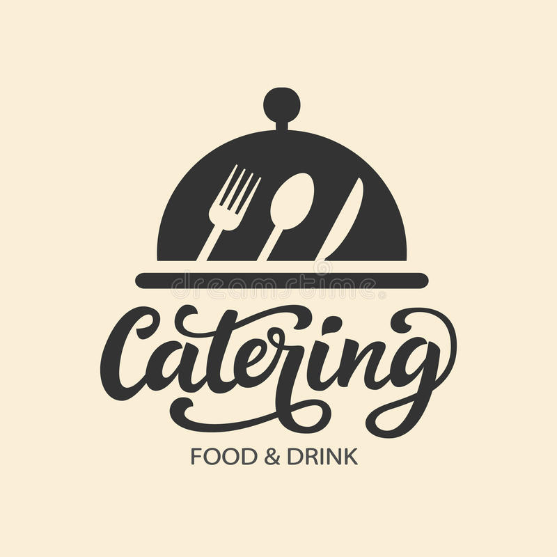 Free Catering Vector Logo Badge With Hand Written Modern Calligraphy Royalty Free Stock Photo - 98126805