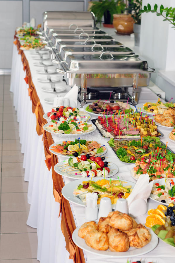 Catering wedding stock image