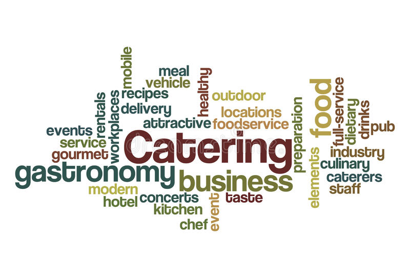 Catering - Word Cloud royalty free illustration