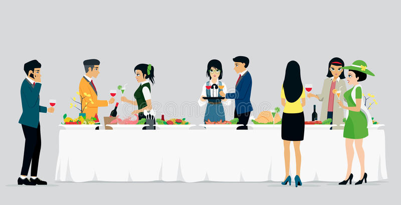 Cateringshotels vector illustratie