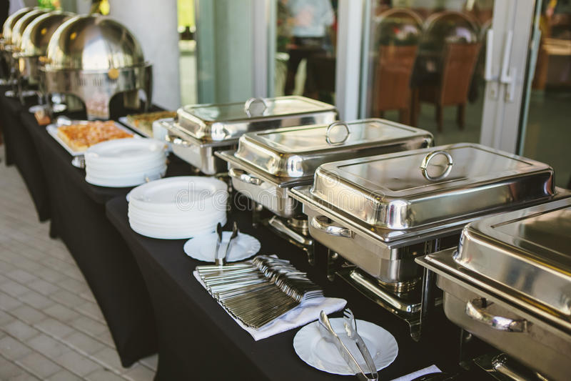 Cateringu jedzenia ślub obraz royalty free